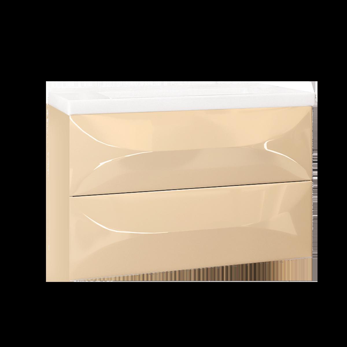 Тумба Elegant 80П 2в.я. Vanilla - купить в Чебоксарах по цене 23 330 Р в интернет-магазине Marka