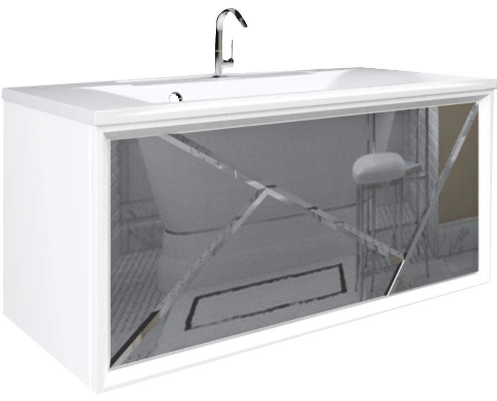 Тумба Seattle 90П 1в.я. Mosaic Mirror - купить в Чебоксарах по цене 23 960 Р в интернет-магазине Marka